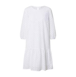 Marc O'Polo DENIM Letní šaty 'Broidery anglaise, ls'  bílá