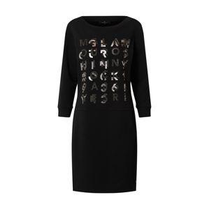 monari Šaty  černá / stříbrná