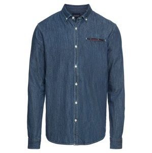SCOTCH & SODA Košile 'REGULAR FIT 1 pocket clean denim shirt with pochet'  modrá