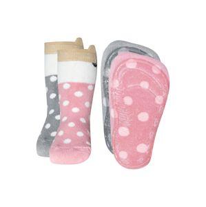 EWERS Ponožky  šedá / růžová / bílá
