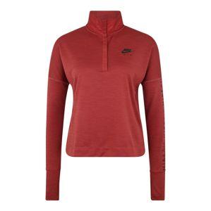 NIKE Funkční tričko 'W NK TOP MIDLAYER AIR'  červená / černá