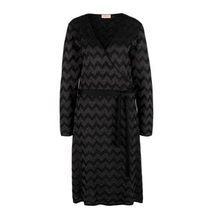TRIANGLE Úpletové šaty  antracitová / černá