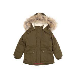 STACCATO Zimní bunda  khaki / světle hnědá