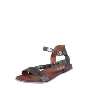 MJUS Páskové sandály 'KATANA'  stříbrná