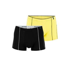 SCHIESSER Boxerky  žlutá / černá