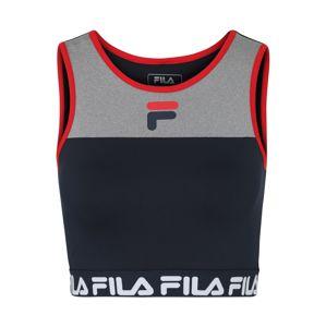 FILA Sportovní top  tmavě modrá / šedá
