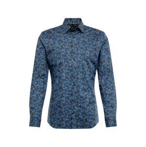 OLYMP Společenská košile 'No. 6 Print Floral'  námořnická modř