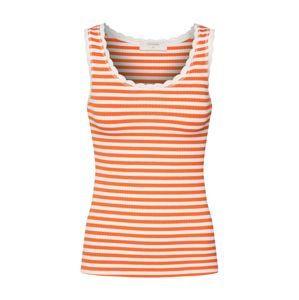 Cream Top  oranžová / bílá