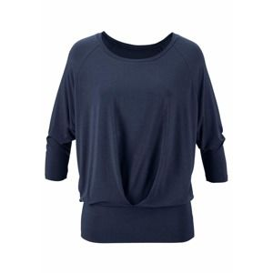 LASCANA Oversized tričko 'Yoga & Relax'  noční modrá