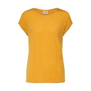 VERO MODA Tričko 'AVA PLAIN'  zlatě žlutá