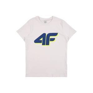 4F Funkční tričko  bílá / námořnická modř / žlutá