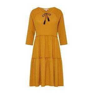 ESPRIT Košilové šaty 'DJERBA POMPOM'  zlatě žlutá