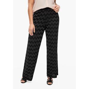 TRIANGLE Kalhoty  černá / stříbrná