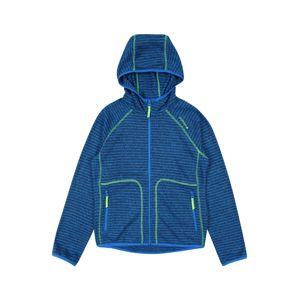 ICEPEAK Sportovní mikina 'LOUIN'  modrá / tmavě modrá / svítivě zelená