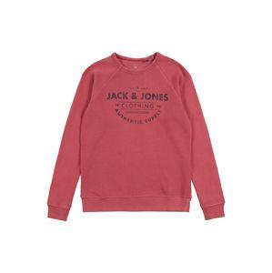 Jack & Jones Junior Mikina 'JJEJEANS WASHED SWEAT CREW NECK JR'  červená
