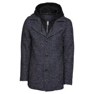 INDICODE JEANS Přechodný kabát 'Adair'  černá / černý melír