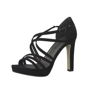 TAMARIS Páskové sandály 'Strappy Heel'  černá