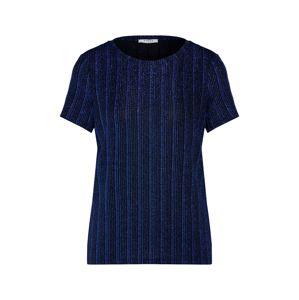 PIECES Tričko 'JOLIE'  modrá / černá