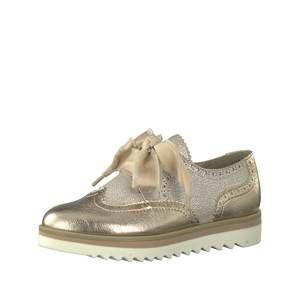 MARCO TOZZI Šněrovací boty  béžová / zlatá