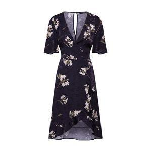Dorothy Perkins Košilové šaty 'SATIN WRAP JACQUARD MIDI'  černá