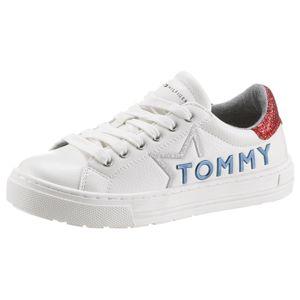 TOMMY HILFIGER Tenisky  červená / bílá / modrá