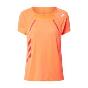 ADIDAS PERFORMANCE Funkční tričko 'Heat.RDY'  oranžová / oranžově červená / bílá