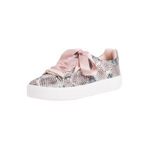 TAMARIS Tenisky  bílá / šedá / pastelově růžová
