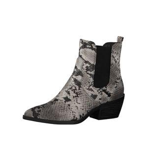 s.Oliver Chelsea boty  černá / šedá / režná